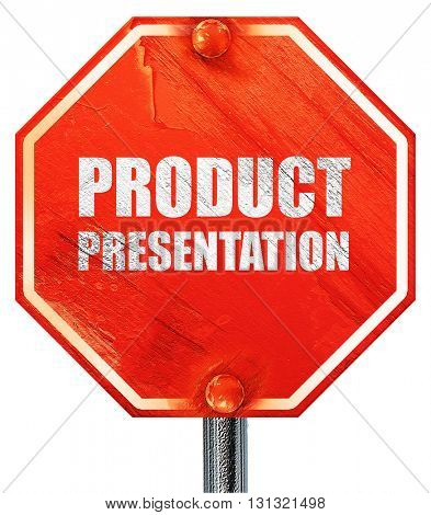 product presentation, 3D rendering, a red stop sign
