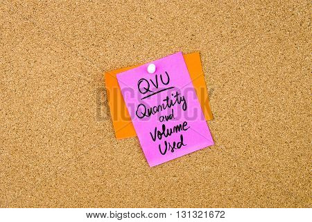 Business Acronym Qvu Quantity And Volume Used