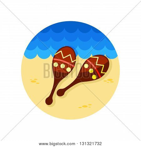 Maracas vector icon. Beach. Summer. Summertime. Vacation eps 10
