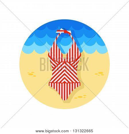 Swimsuit vector icon. Beach. Summer. Summertime. Vacation eps 10