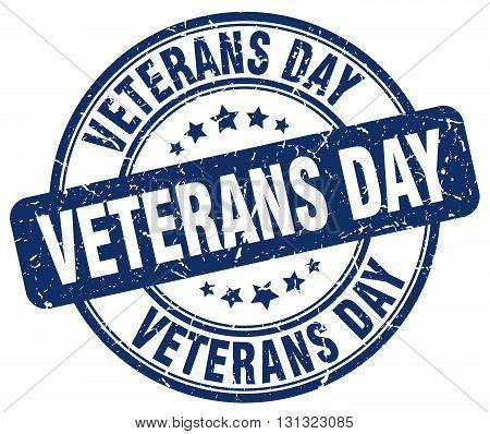 Veterans Day Blue Grunge Round Vintage Rubber Stamp.veterans Day Stamp.veterans Day Round Stamp.vete