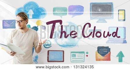The Cloud Computing Networking Connection Concept