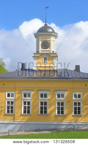 The old city hall building in Lappeenranta. Lappeenranta - city and municipality in Finland in the province of Eastern Finland.