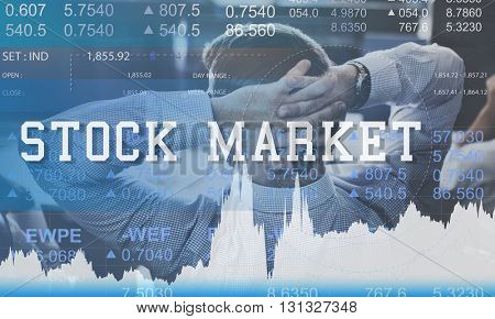 Stock Market Exchange Global Finance Shares Concept