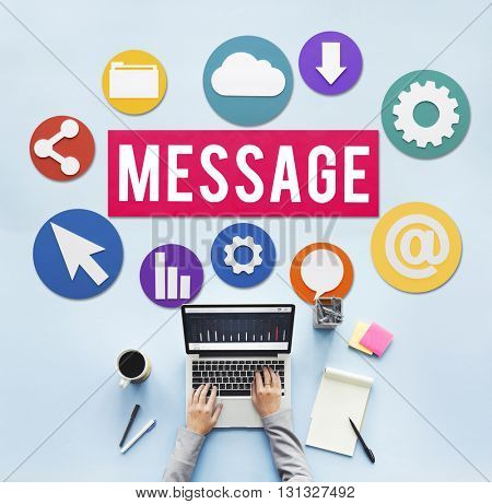 Message Technology Device Communication Connection Concept