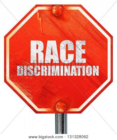 race discrimination, 3D rendering, a red stop sign