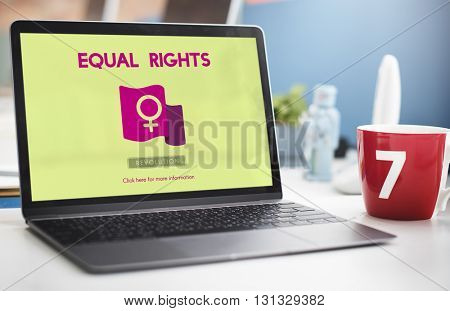 Woman Power Feminist Equal Rights Concept