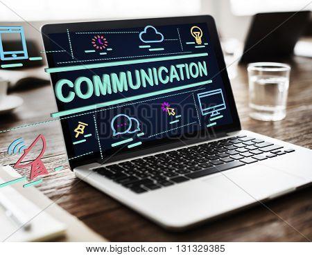 Communication Communicacte Conversation Concept