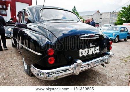 Podol, Ukraine - May 19, 2016: Back View Of Gaz-12 Zim, Luxury Soviet Limousine, Produced By The Gor
