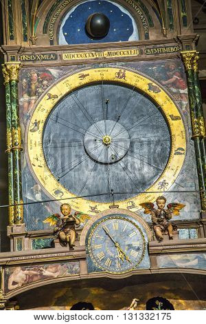 Astronomical Clock In The Cathedral Of Strasbourg