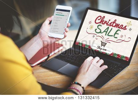 Christmas Sale Winter Promotion Offer Concept