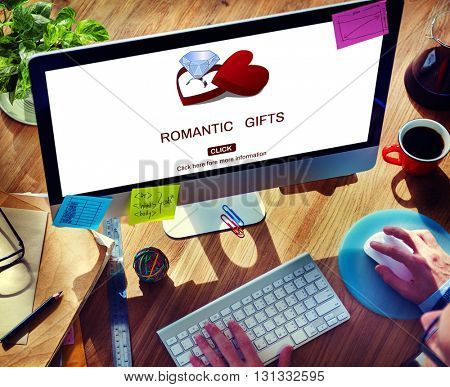 Romantic Gifts Romance Marry me Proposal Concept