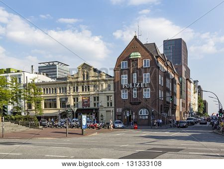 Famous Police Station Davidswache At The Reeperbahn In Hamburg