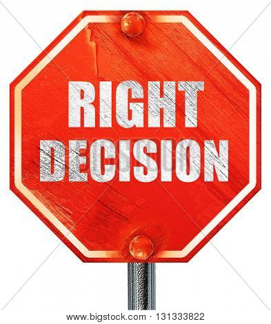 right decision, 3D rendering, a red stop sign