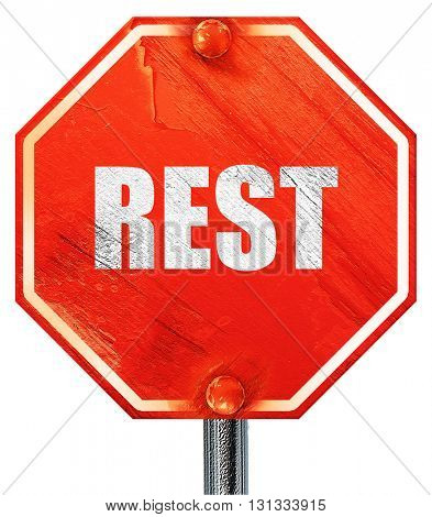 rest, 3D rendering, a red stop sign