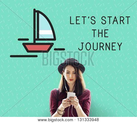 Let Start The Journey Woman Concept