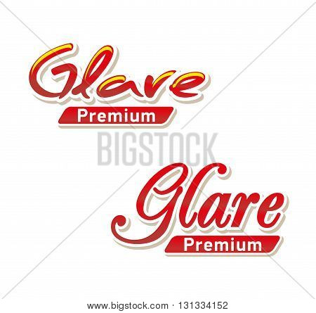 Text Logo Glare premium. For example, for cleaning companies. Vector logotype design isolated on white background.