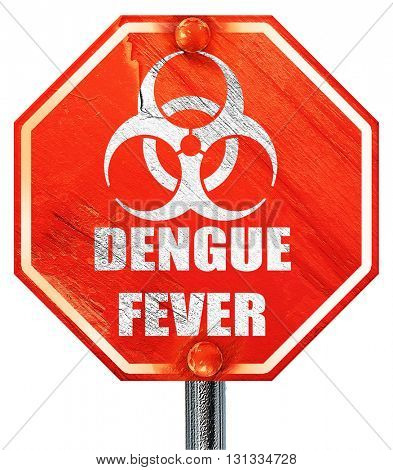 Dengue fever concept background, 3D rendering, a red stop sign