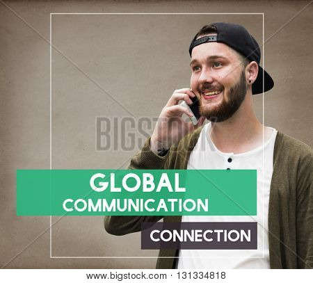 Student Man Communication Connection Networking Concept