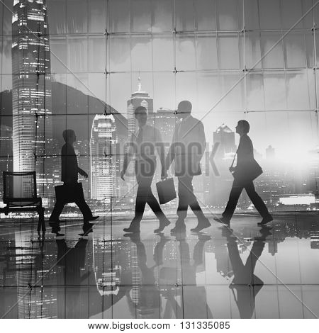 Business People Commuter City Life Walking Concept