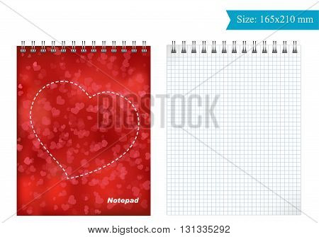 The cover template for Notepad. you Can take and print. Square grid.