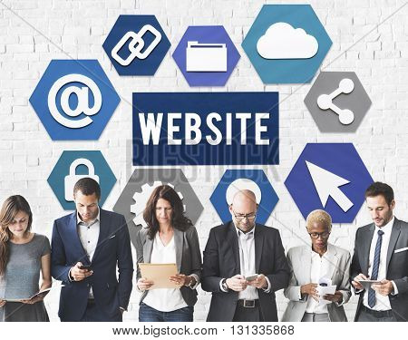 Website Business People Internet Technology Concept