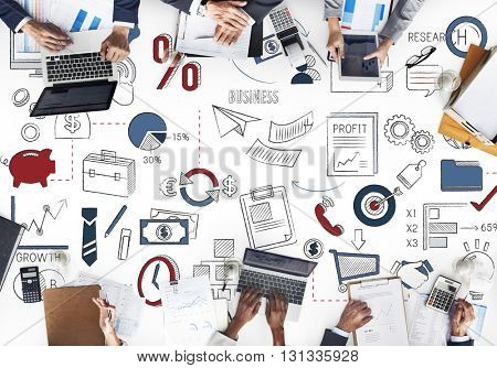Global Business Connection Finance Planning Strategy Concept