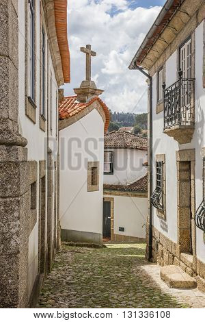 Narrow Cobblestoned Street In Historical Town Amarante