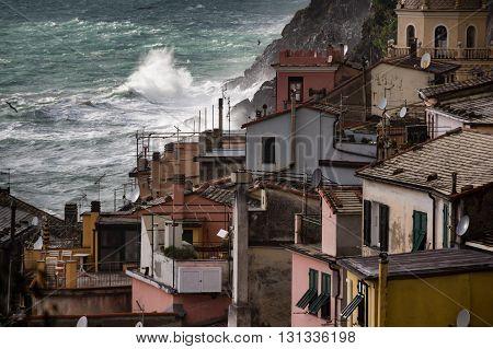 Vernazza details, Cinque Terre parkl, Liguria, Italy