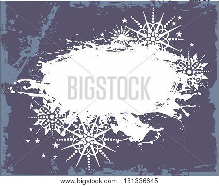 Abstract design with snowflakes and space for text