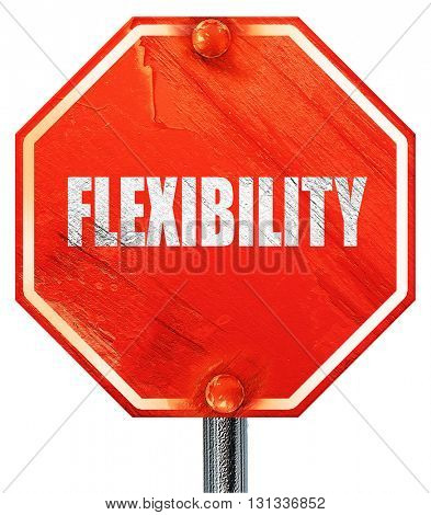 flexibility, 3D rendering, a red stop sign