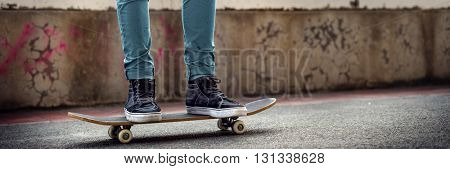 Skateboarder Lifestyle Style Sneaker Exercise Concept
