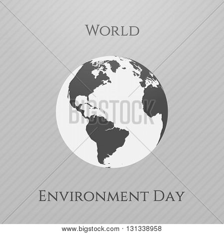 World Environment Day awareness Background Template. Vector Illustration.