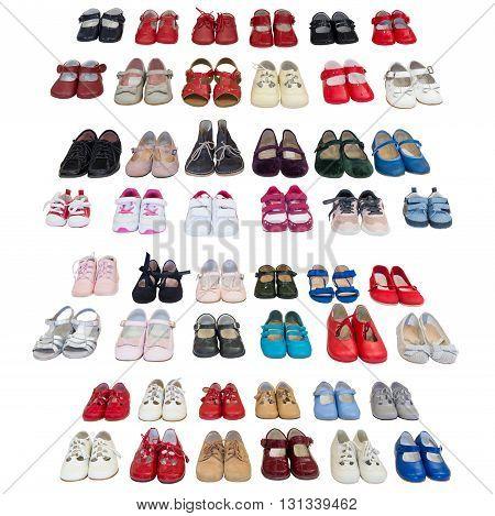 image of baby shoes isolated on white background