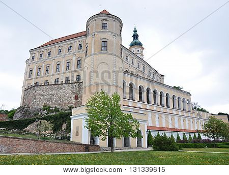 old castle town of Mikulov, Moravia, Czech Republic, Europe