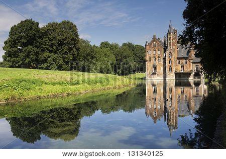 Wissekerke castle is a moated castle in the village Bazel in the Belgium province East Flanders