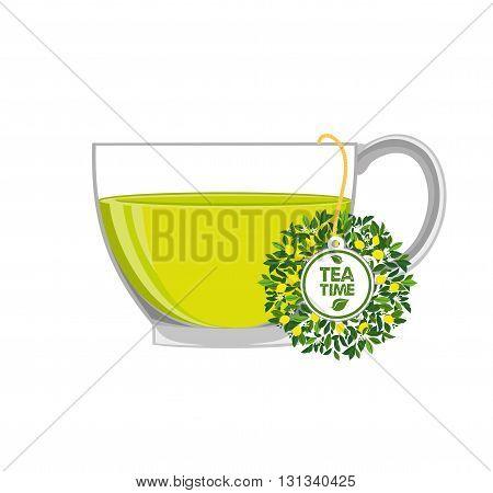 Green tea with lemon. Tea - Hot Drink, Tea Cup, Afternoon Tea, Cup, Tea bag