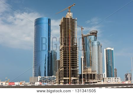 Abu Dhabi New District With Skyscrapers Construction