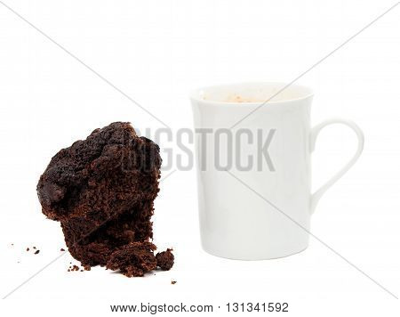 drink coffee cappuccino isolated on white background