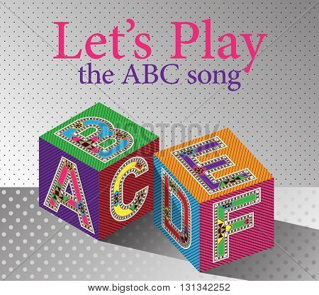 Let's Play The ABC Song Nursery Activities Poster