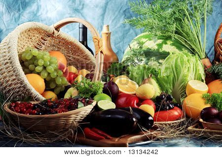 Fresh Vegetables, Fruits and other foodstuffs. Huge collection