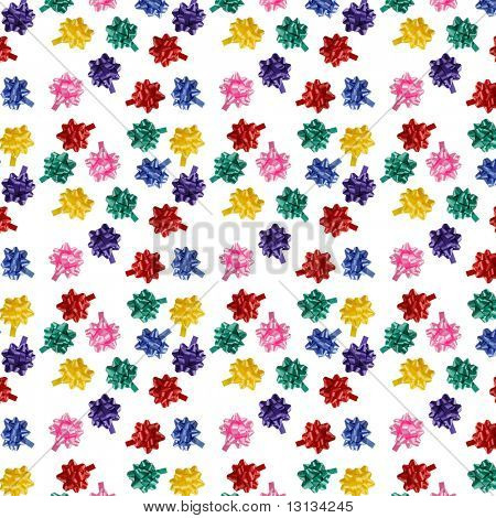 multicolored bows seamless texture - a present background