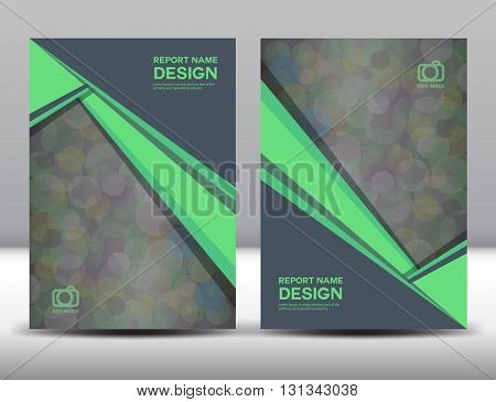 Set Green Cover Annual report designcover designpolygon background book cover brochure flyer template poster booklet leaflet