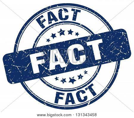 Fact Blue Grunge Round Vintage Rubber Stamp.fact Stamp.fact Round Stamp.fact Grunge Stamp.fact.fact