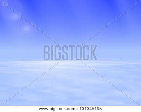 Vector illustration of the atmospheric space above the clouds. The boundary between the troposphere and stratosphere. Heavenly landscape.