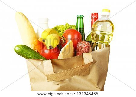 Many products in paper bag