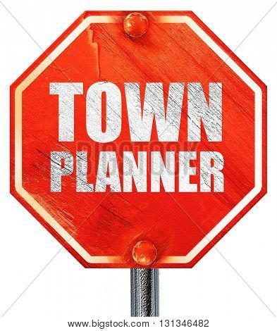 townplanner, 3D rendering, a red stop sign