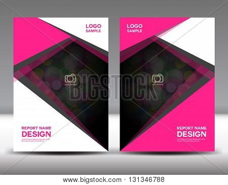 Set Pink Cover Annual report design cover design polygon background book cover brochure flyer template poster booklet leaflet