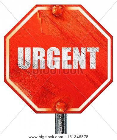 urgent, 3D rendering, a red stop sign