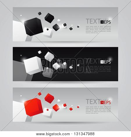 Vector illustration of 3d cubes. Technology backdrop. Abstract background for business presentation design.
